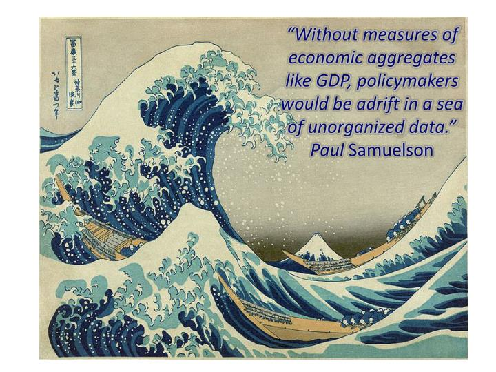 """Without measures of economic aggregates like GDP, policymakers would be adrift in a sea of unorganized data.""  Paul"