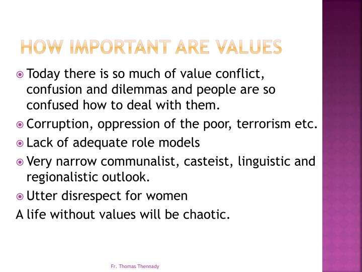 How Important are Values