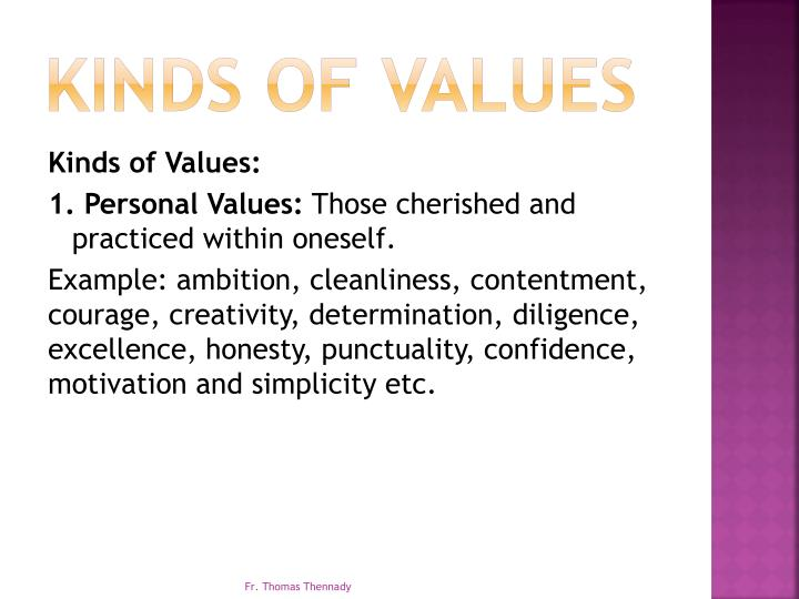 Kinds of Values