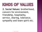 kinds of values1