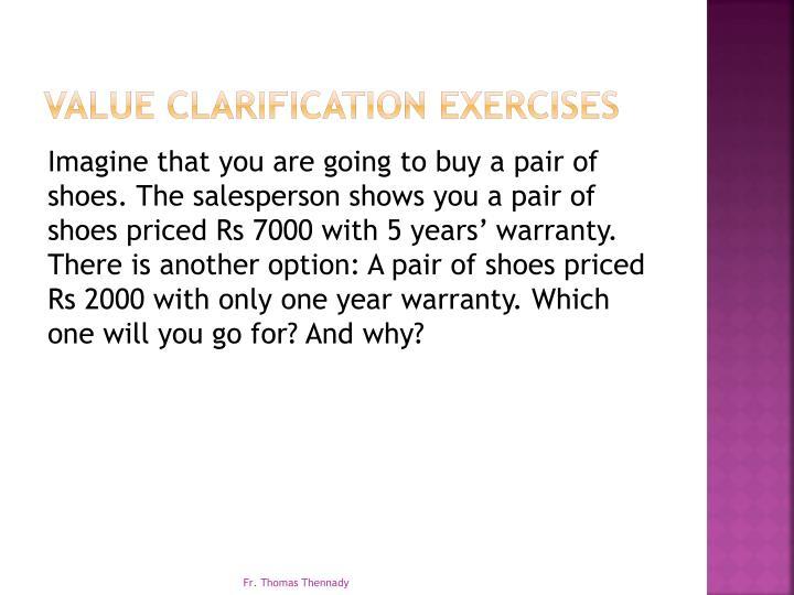 Value Clarification Exercises