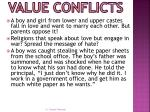 value conflicts