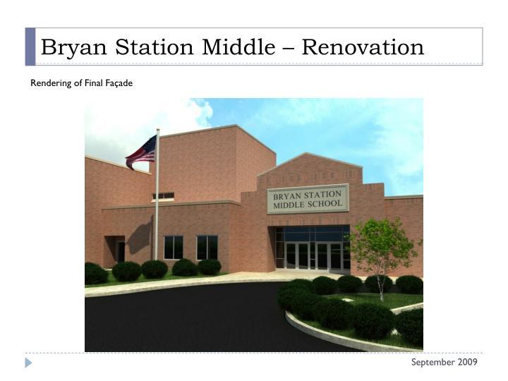 Bryan Station Middle – Renovation