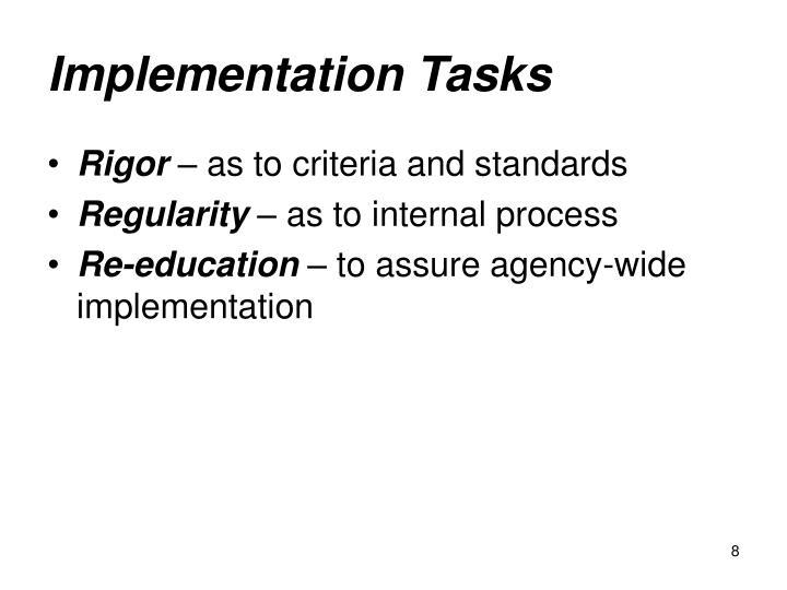Implementation Tasks