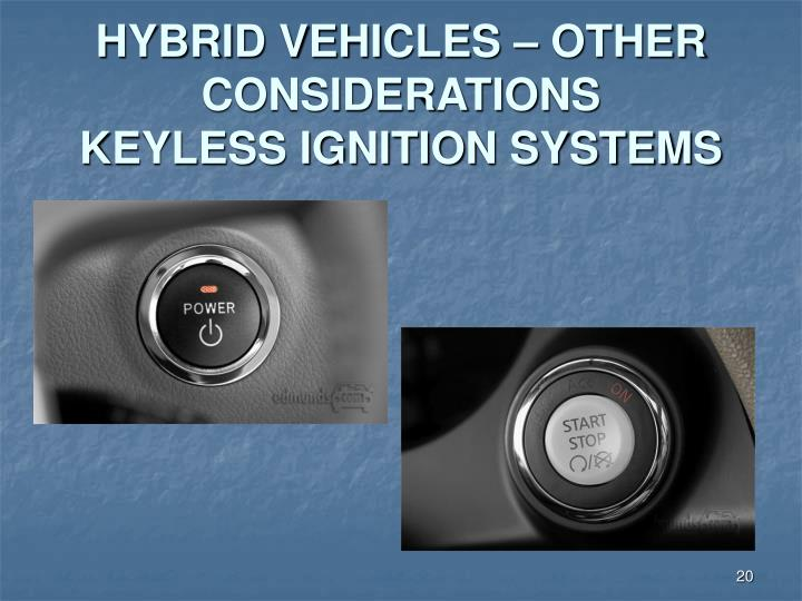 HYBRID VEHICLES – OTHER CONSIDERATIONS