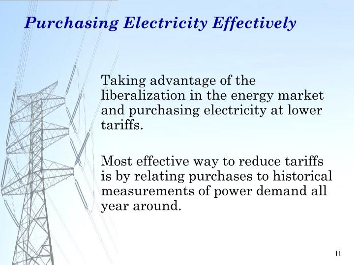 Purchasing Electricity Effectively