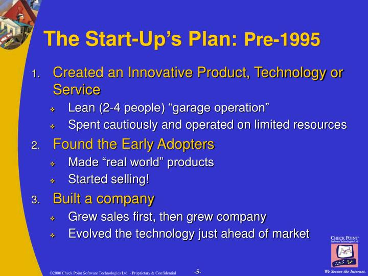 The Start-Up's Plan:
