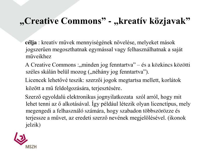 """Creative Commons"" -"