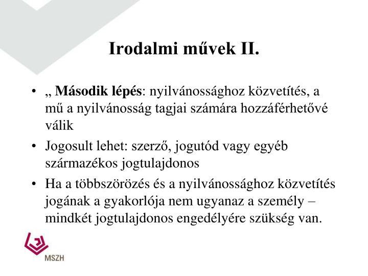 Irodalmi művek II.