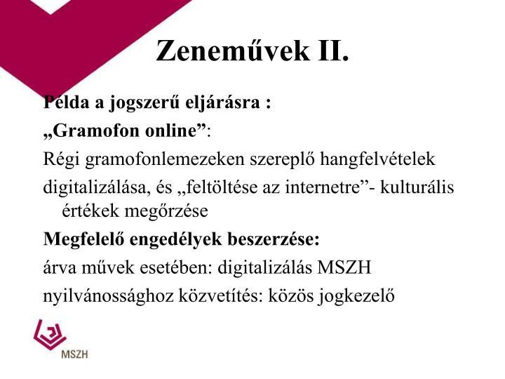 Zeneművek II.