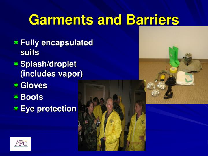 Garments and Barriers