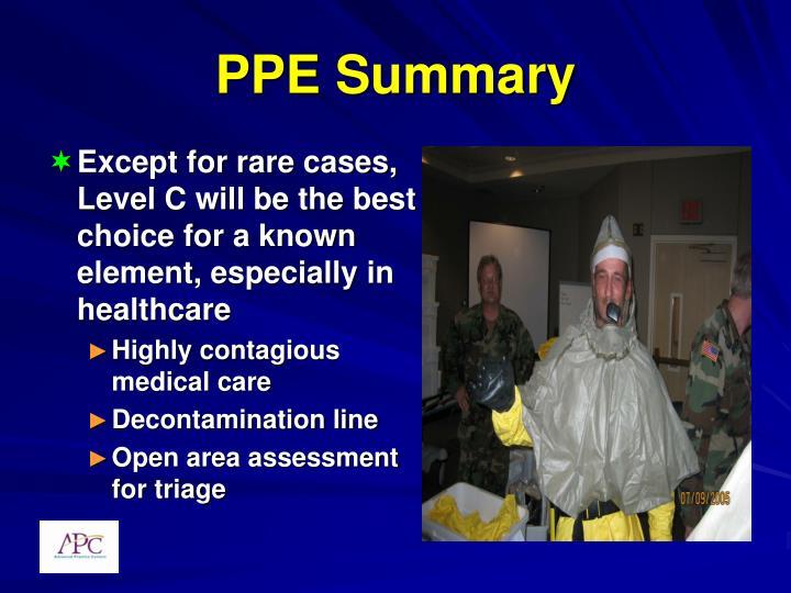 PPE Summary