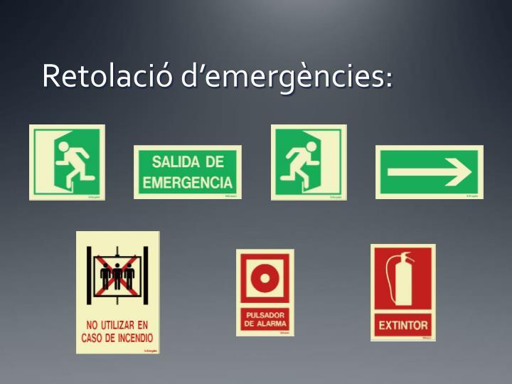 Retolació d'emergències:
