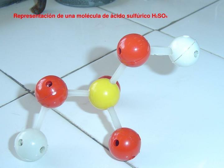 Representación de una molécula de ácido sulfúrico H