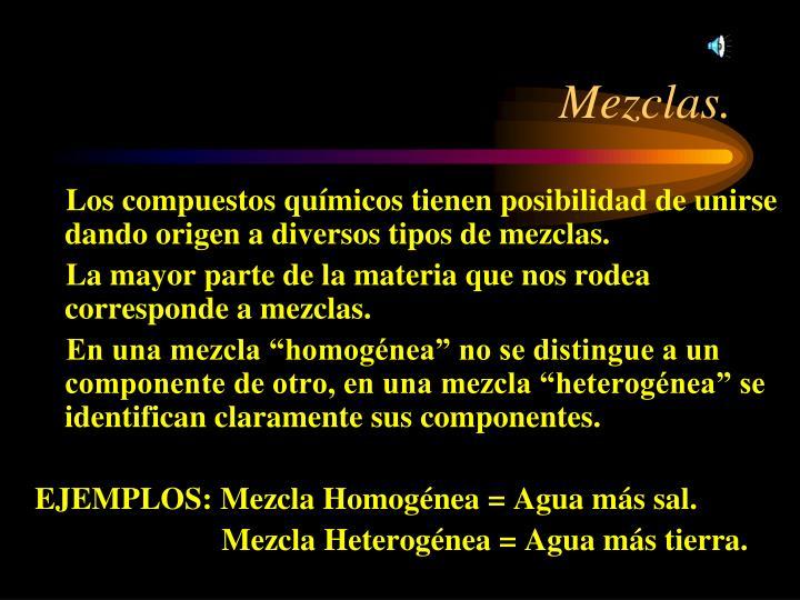 Mezclas.