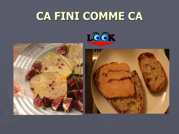 CA FINI COMME CA
