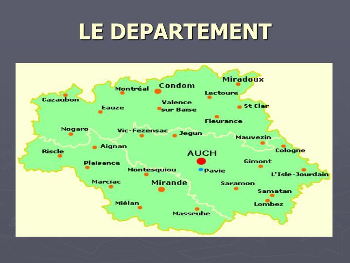 LE DEPARTEMENT