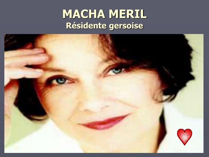 MACHA MERIL