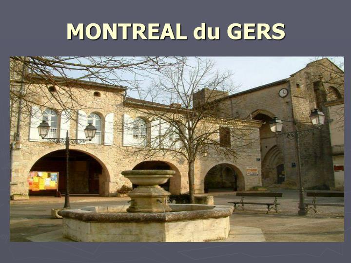 MONTREAL du GERS