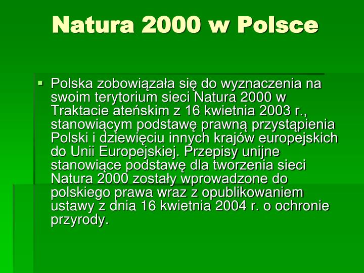 Natura 2000 w Polsce