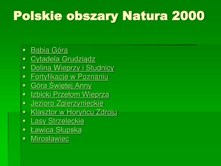 Polskie obszary Natura 2000