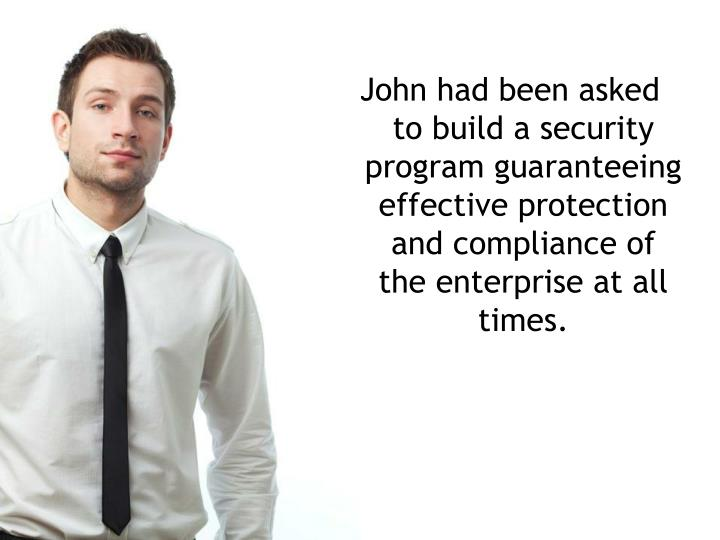John had been asked