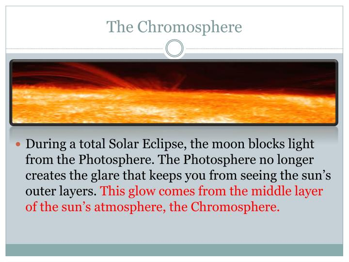 The Chromosphere