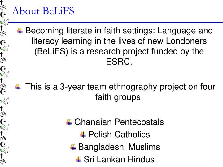 About belifs