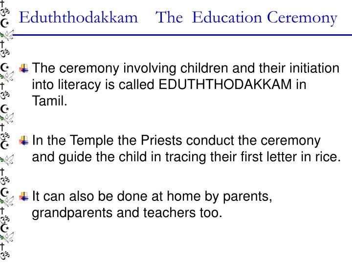 Eduththodakkam    The  Education Ceremony