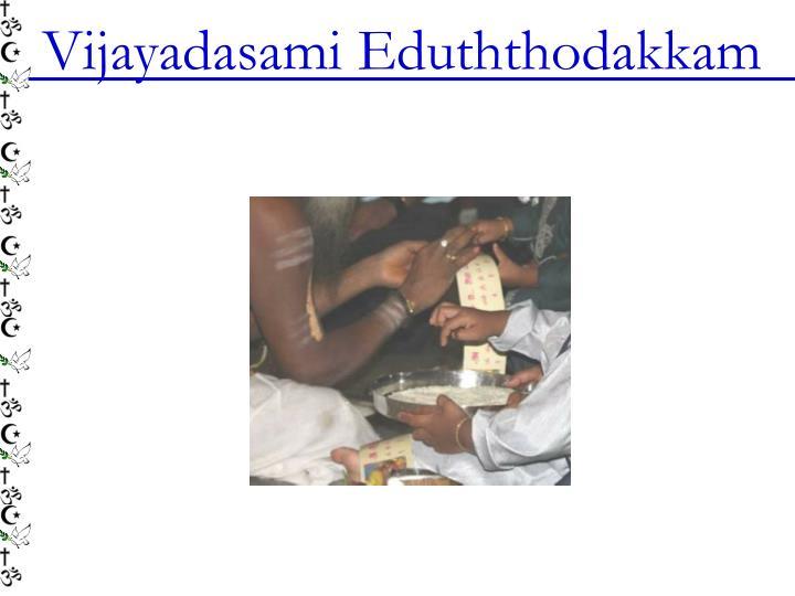 Vijayadasami Eduththodakkam