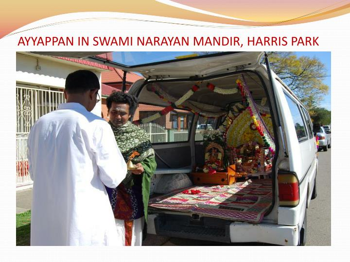 AYYAPPAN IN SWAMI NARAYAN MANDIR, HARRIS PARK