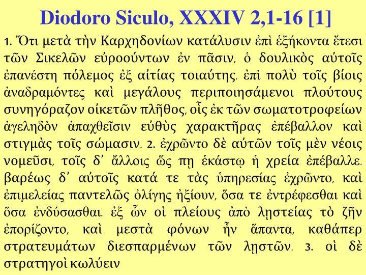 Diodoro Siculo, XXXIV 2,1-16 [1]