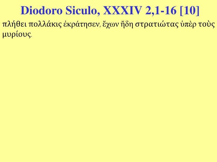 Diodoro Siculo, XXXIV 2,1-16 [10]