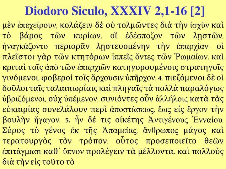 Diodoro Siculo, XXXIV 2,1-16 [2]