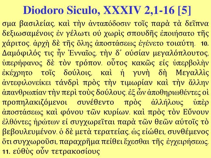 Diodoro Siculo, XXXIV 2,1-16 [5]