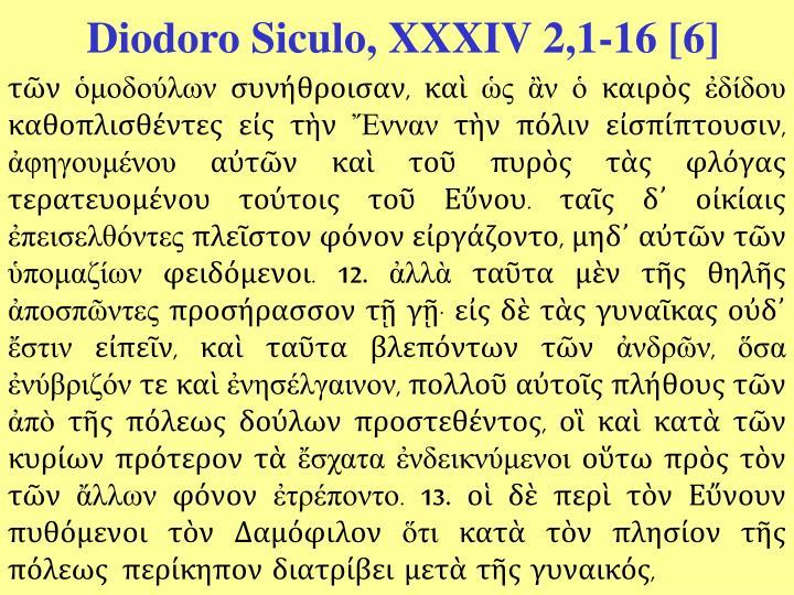 Diodoro Siculo, XXXIV 2,1-16 [6]
