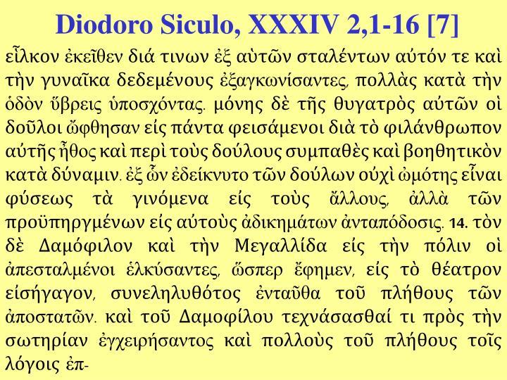 Diodoro Siculo, XXXIV 2,1-16 [7]