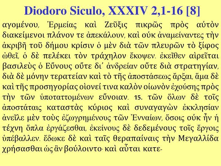 Diodoro Siculo, XXXIV 2,1-16 [8]