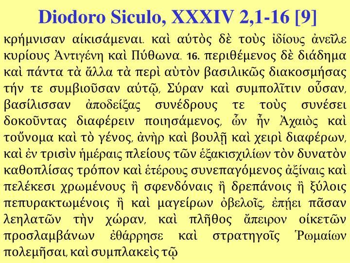 Diodoro Siculo, XXXIV 2,1-16 [9]