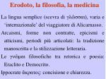 erodoto la filosofia la medicina