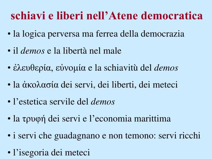 schiavi e liberi nell'Atene democratica
