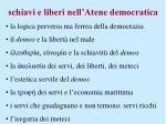 schiavi e liberi nell atene democratica