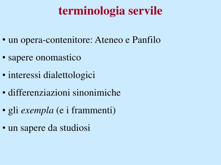 terminologia servile