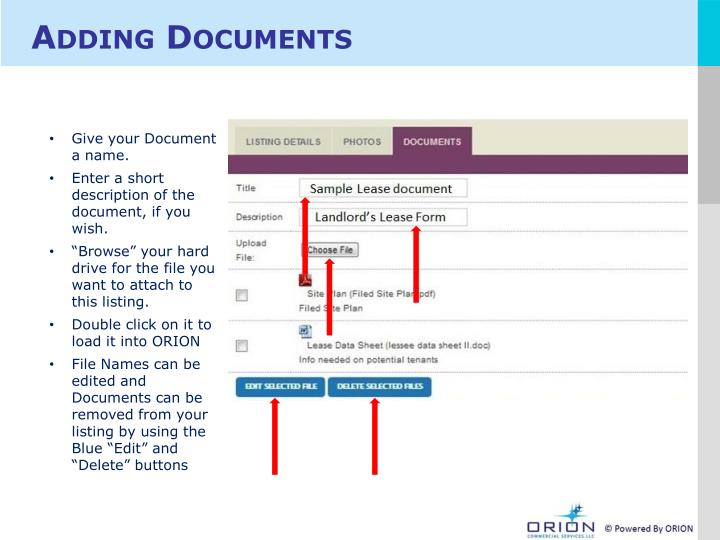 Adding Documents