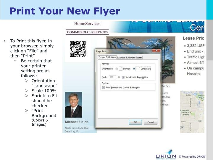 Print Your New Flyer