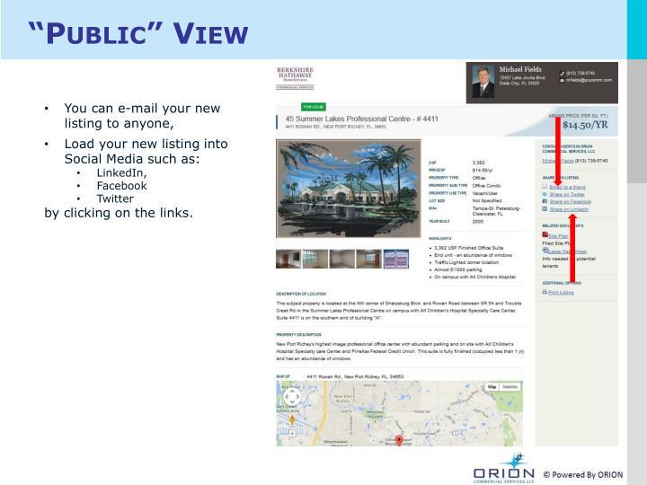 """""""Public"""" View"""