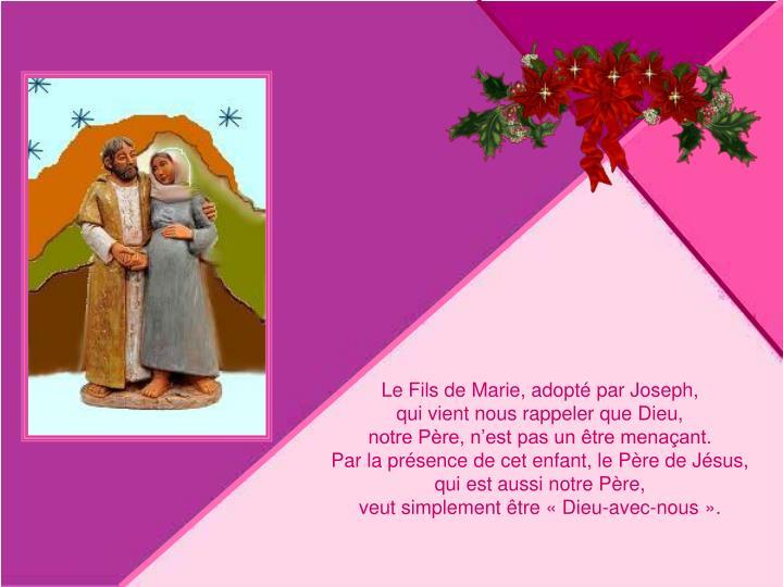 Le Fils de Marie, adopté par Joseph,