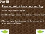 how to post pictures on your blog