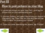 how to post pictures on your blog1