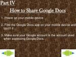 how to share google docs
